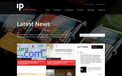 ip21 website news page