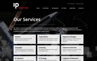 ip21 redesigned services page